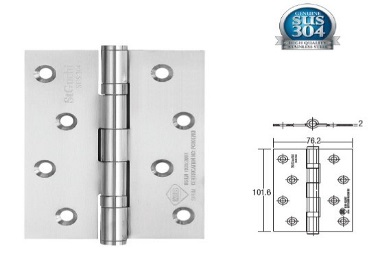 "SGDH-743020-SS 2BB 4""x3""x2mm SUS304 Stainless Steel Hinge"
